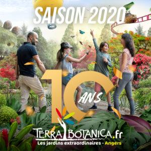 IDENTITE VISUELLE TERRA BOTANICA - Saison 2020 - 10 ans du parc