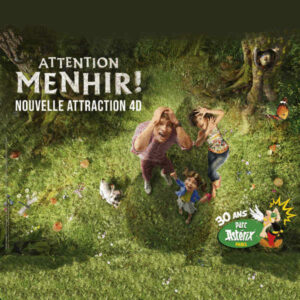 Nouvelle attraction 2019 au Parc Asterix ATTENTION MENHIR